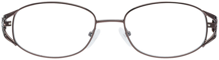 PRESCRIPTION-GLASSES-MODEL-VP-204-BROWN-FRONT