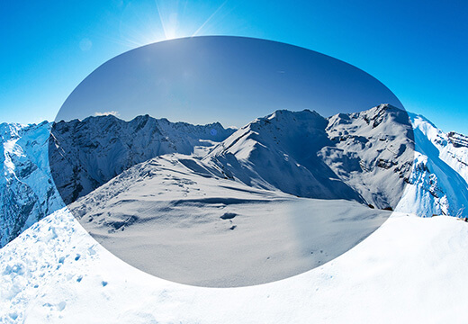 Polarized lenses for skiing