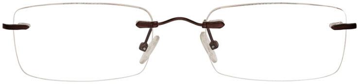 PRESCRIPTION-GLASSES-MODEL-MX929-MATTE-BROWN-FRONT