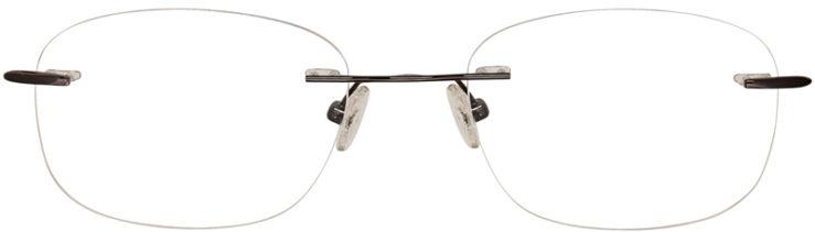 PRESCRIPTION-GLASSES-MODEL-U729-GUNMETAL-FRONT