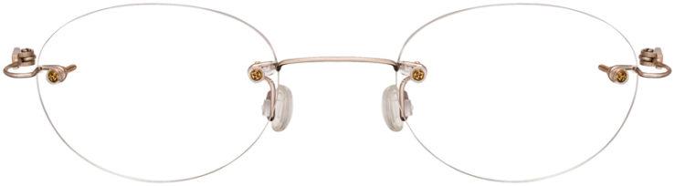 MIUKI-PRESCRIPTION-GLASSES-MODEL-3000-2-S-GOLD-FRONT