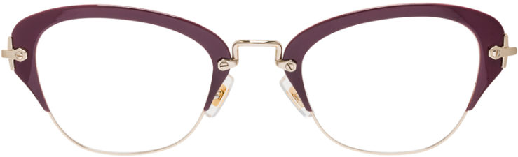 PRESCRIPTION-GLASSES-MODEL-MIU-MIU-VMU-530-BURGANDY-FRONT