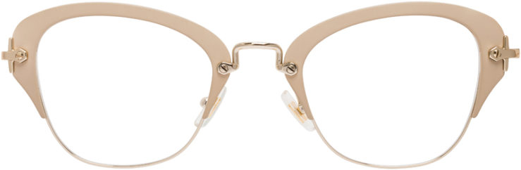 PRESCRIPTION-GLASSES-MODEL-MIU-MIU-VMU-530-MATTE-BEIGE-FRONT