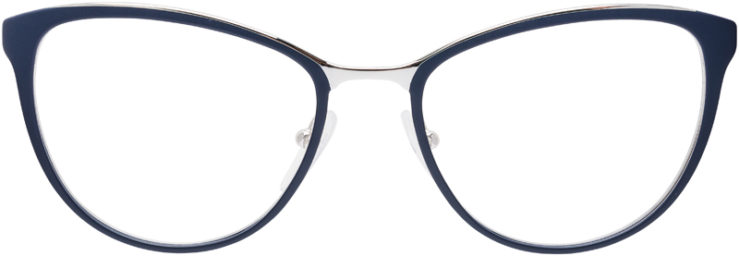 PRESCRIPTION-GLASSES-MODEL-PRADA-VPR-55T-MATTE-BLUE-FRONT