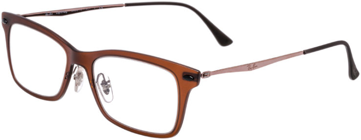 PRESCRIPTION-GLASSES-MODEL-RAY-BAN-LIGHTRAY-RB-7039-BROWN-45