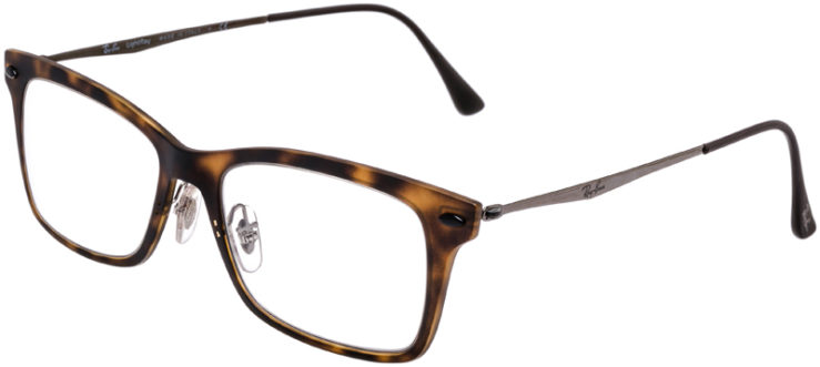 PRESCRIPTION-GLASSES-MODEL-RAY-BAN-LIGHTRAY-RB-7039-MATTE-TORTOISE-45
