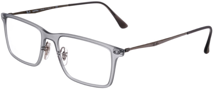 PRESCRIPTION-GLASSES-MODEL-RAY-BAN-LIGHTRAY-RB-7050-CLEAR-GREY-45