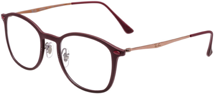 PRESCRIPTION-GLASSES-MODEL-RAY-BAN-LIGHTRAY-RB-7051-BURGUNDY-45
