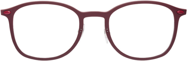 PRESCRIPTION-GLASSES-MODEL-RAY-BAN-LIGHTRAY-RB-7051-BURGUNDY-FRONT