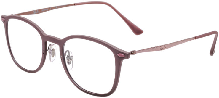 PRESCRIPTION-GLASSES-MODEL-RAY-BAN-LIGHTRAY-RB-7051-MATTE-ROSE-45