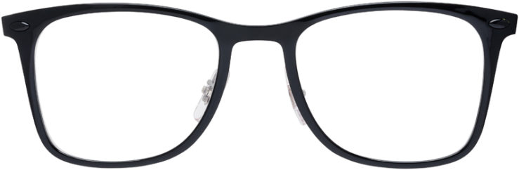 PRESCRIPTION-GLASSES-MODEL-RAY-BAN-LIGHTRAY-RB-7086-BLACK-FRONT