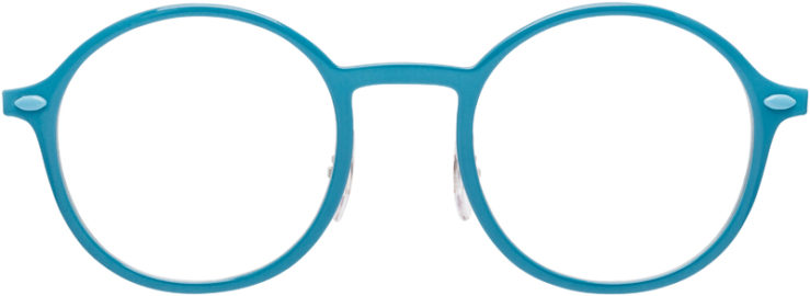 PRESCRIPTION-GLASSES-MODEL-RAY-BAN-LIGHTRAY-RB-7087-AQUA-FRONT