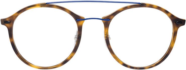 PRESCRIPTION-GLASSES-MODEL-RAY-BAN-LIGHTRAY-RB-7111–MATTE-TORTOISE-BLUE-FRONT