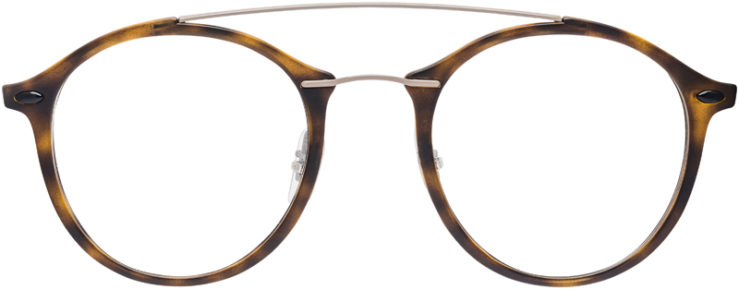 PRESCRIPTION-GLASSES-MODEL-RAY-BAN-LIGHTRAY-RB-7111–MATTE-TORTOISE-SILVER–FRONT