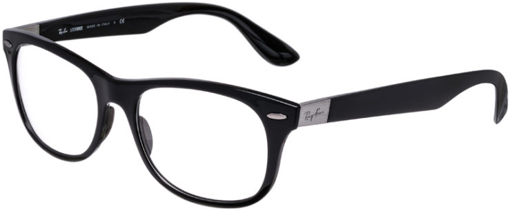 PRESCRIPTION-GLASSES-MODEL-RAY-BAN-LITEFORCE-RB-7032-BLACK–45