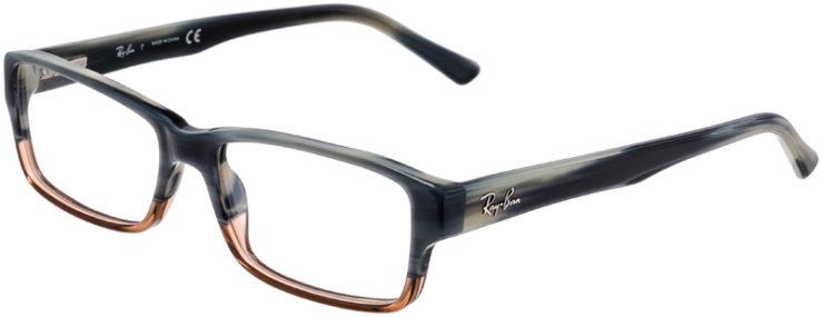PRESCRIPTION-GLASSES-MODEL-RAY BAN RB 5169-GREY TORTOISE BROWN-45