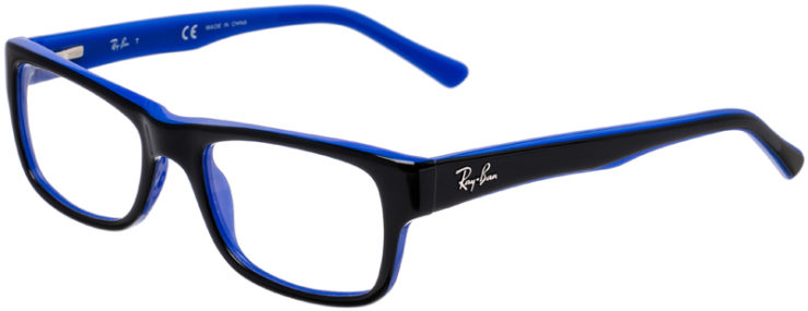 PRESCRIPTION-GLASSES-MODEL-RAY-BAN-RB-5268-BLACK-BLUE-45