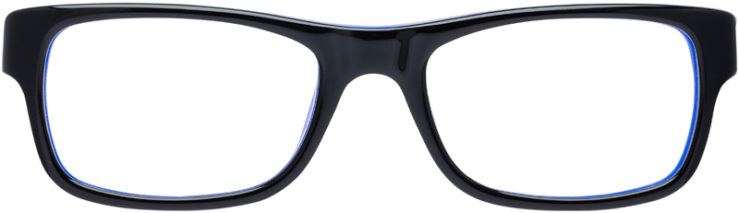 PRESCRIPTION-GLASSES-MODEL-RAY-BAN-RB-5268-BLACK-BLUE-FRONT