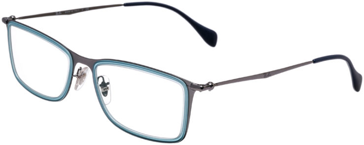 PRESCRIPTION-GLASSES-MODEL-RAY-BAN-RB-6299-METALLIC-AQUA-45
