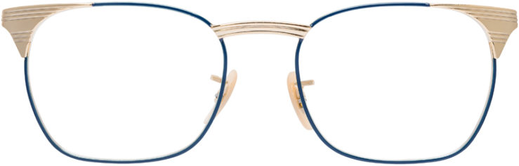 PRESCRIPTION-GLASSES-MODEL-RAY-BAN-RB-6386-GOLD-BLUE-FRONT