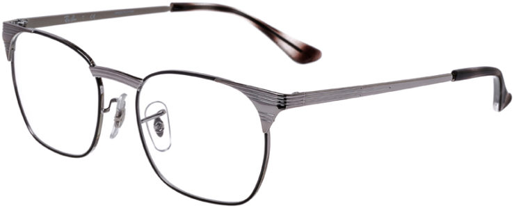 PRESCRIPTION-GLASSES-MODEL-RAY-BAN-RB-6386-SILVER-BLACK-45