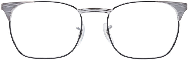 PRESCRIPTION-GLASSES-MODEL-RAY-BAN-RB-6386-SILVER-BLACK-FRONT