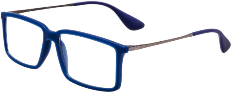PRESCRIPTION-GLASSES-MODEL-RAY-BAN-RB-7043-MATTE-BLUE-45