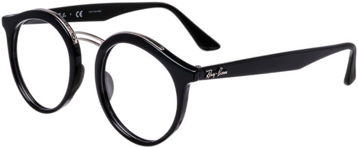 PRESCRIPTION-GLASSES-MODEL-RAY-BAN-RB-7110-BLACK-45