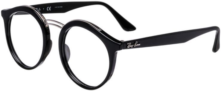 PRESCRIPTION-GLASSES-MODEL-RAY-BAN-RB-7110-BLACK-45