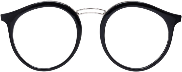PRESCRIPTION-GLASSES-MODEL-RAY-BAN-RB-7110-BLACK-FRONT