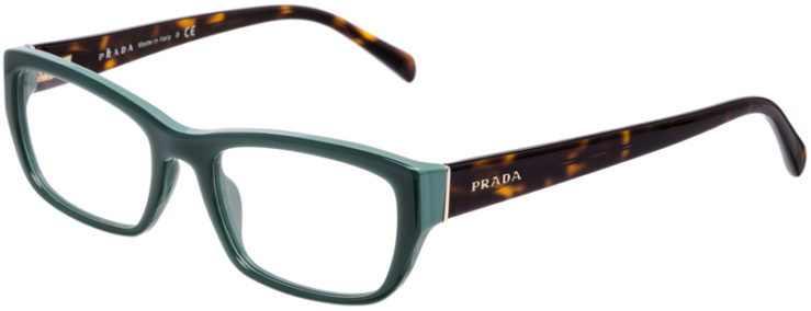 PRESCRIPTION-GLASSES-MODEL-PRADA-VPR-18O-GREEN-TORTOISE-45