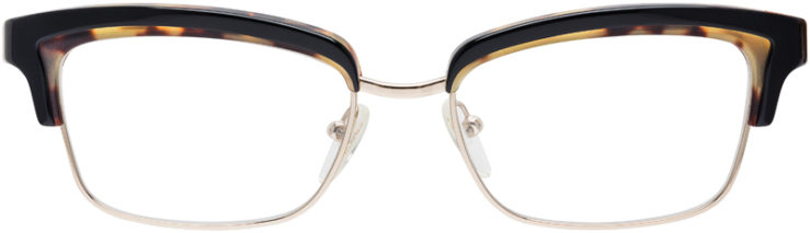 PRESCRIPTION-GLASSES-MODEL-PRADA-VPR-21P-TORTOISE-BLACK-GOLD-FRONT