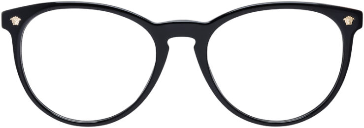 PRESCRIPTION-GLASSES-MODEL-VERSACE-MOD.3257-BLACK-FRONT