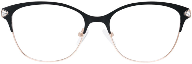 PRESCRIPTION-GLASSES-MODEL-DC-167-BLACK-GOLD-FRONT