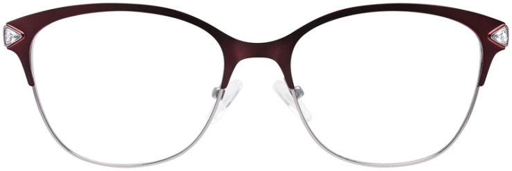 PRESCRIPTION-GLASSES-MODEL-DC-167-BURGUNDY-SILVER-FRONT