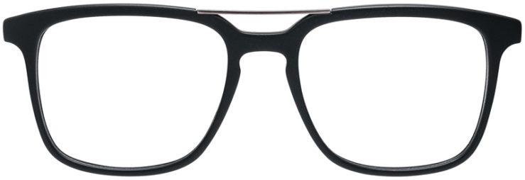 PRESCRIPTION-GLASSES-MODEL-DC-169-MATT-BLACK-GUNMETAL-FRONT