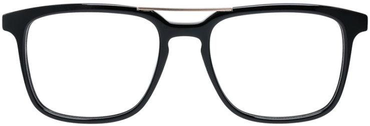 PRESCRIPTION-GLASSES-MODEL-DC-169-SHINY-BLACK-GOLD-FRONT
