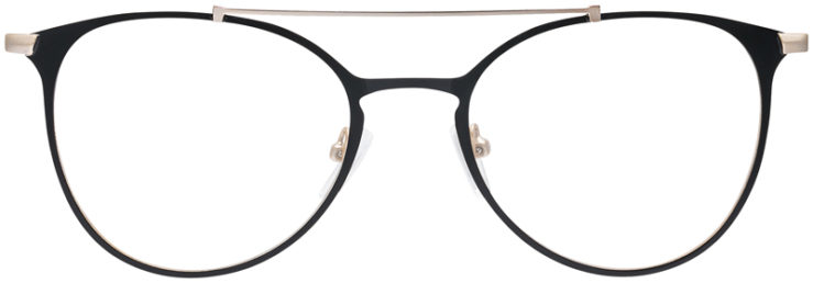 PRESCRIPTION-GLASSES-MODEL-DC-174-BLACK-GOLD-FRONT