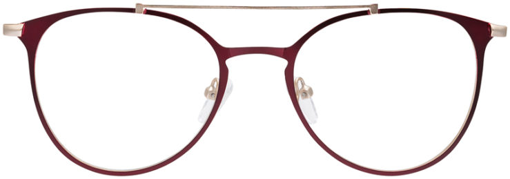 PRESCRIPTION-GLASSES-MODEL-DC-174-RED-GOLD-FRONT