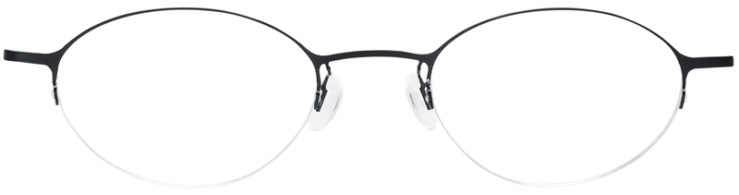 PRESCRIPTION-GLASSES-MODEL-LOGO-NY-2429-MATTE-BLACK-FRONT