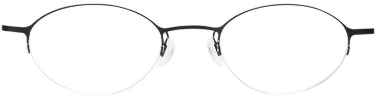 PRESCRIPTION-GLASSES-MODEL-LOGO-NY-2429-MATTE-BLACK-FRONT