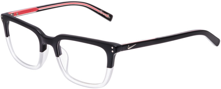 PRESCRIPTION-GLASSES-MODEL-NIKE-37KD-MATTE-BLACK-CRYSTAL-CLEAR-45