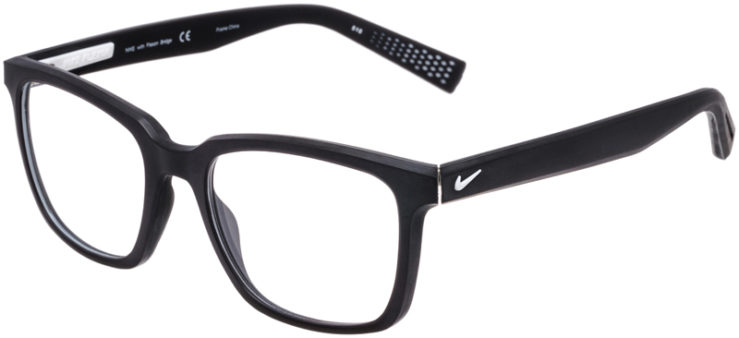 PRESCRIPTION-GLASSES-MODEL-NIKE-4266-MATTE-BLACK-WHITE-45
