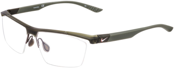 PRESCRIPTION-GLASSES-MODEL-NIKE-7076-MT-CRY-CARGO-KHAKI-IRON-GREEN-45
