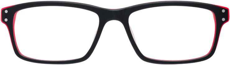 PRESCRIPTION-GLASSES-MODEL-NIKE-7231-MATTE-BLACK-HYPER-RED-FRONT