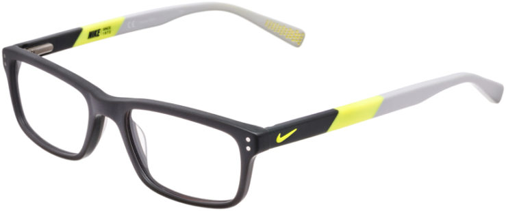 PRESCRIPTION-GLASSES-MODEL-NIKE-7237-MATTE-DARK-GREY-VOLT-45
