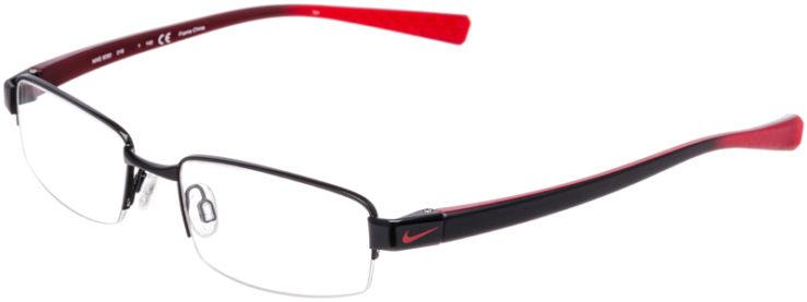 PRESCRIPTION-GLASSES-MODEL-NIKE-8090-SATIN-BLACK-RED-45