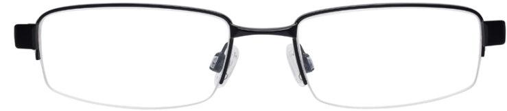 PRESCRIPTION-GLASSES-MODEL-NIKE-8090-SATIN-BLACK-RED-FRONT