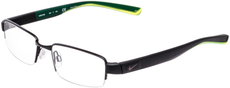 PRESCRIPTION-GLASSES-MODEL-NIKE-8165-BLACK-CRYSTAL-VOLT-GREEN-45