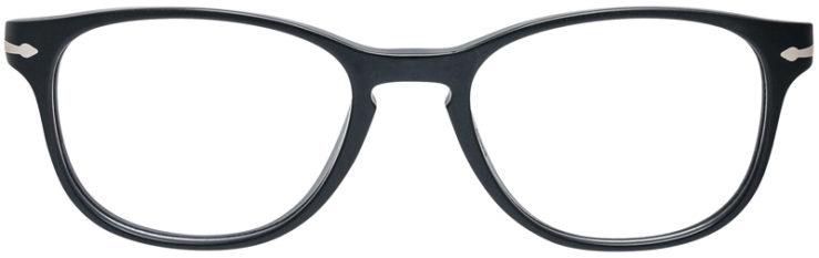 PRESCRIPTION-GLASSES-MODEL-PERSOL-3085-V-MATTE-BLACK-FRONT